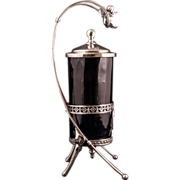 REDUCED Victorian silver plate pickle caster by James Tufts with cupid circa 1870