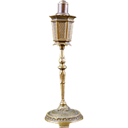 Vintage table top German cigarette lighter in the shape of a Spanish revival floor lamp ...