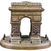 Cast bronze souvenir lidded Arc de Triomph box circa 1900