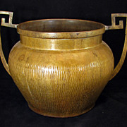 European decorative Arts and Crafts brass urn - Early 20th century