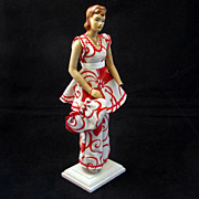 REDUCED 1940's Miniature Display Pattern Mannequin with an Original Summer Outfit