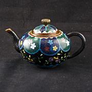 REDUCED Miniature Japanese cloisonné teapot Meiji Period