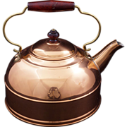 Vintage Copper clad Revere Ware Teapot Kettle c 1960s – excellent condition