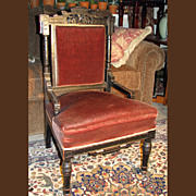 REDUCED Antique Ebonized Aesthetic Eastlake Movement Side Chair