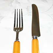 Butterscotch Yellow Bakelite Flatware Service for One