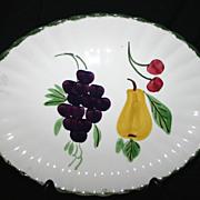 SALE Blue Ridge Fruit Fantasy Serving Platter