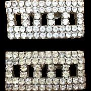 Rhinestone rectangular shoe clips