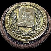 Tam O'Shanter steel bead coin purse dated 1903 Greek girl