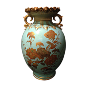 SALE Royal Crown Derby Robin Egg Blue with heavy gold gilt floral design and unique ...
