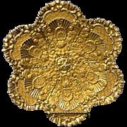 "SALE Meissen Heavy Gold Gilt Rococo Shell form 8.5"" plate circa 1790's Very ..."