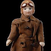Aviatrix All-Bisque Dollhouse Doll