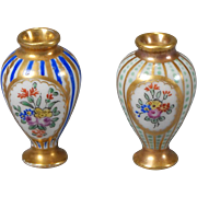 French Porcelain (Limoges) Cabinet Vases