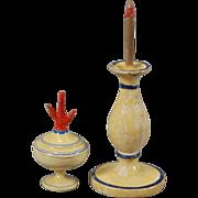 German Treen Dollhouse Accessories