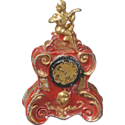 Rococo Mantle Clock for Dollhouse