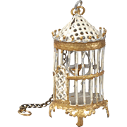 Soft Metal Birdcage for Dollhouse