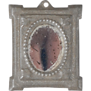 Stamped Tin Framed Mirror
