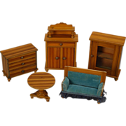 Early Dollhouse Parlor Suite