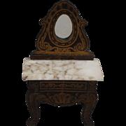 Classic Biedermeier Mirrored Washstand