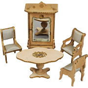 French Scroll-cut Suite of Smaller-scale Dollhouse Furniture