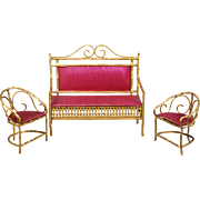 Ormolu Faux Bamboo Furniture from Erhard & Söhne