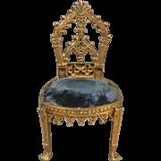 Gilt Bronze Side Chair in the Gothic Taste