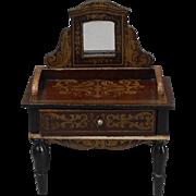 Fine Biedermeier Dressing Table in a Seldom Found Style