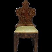 Biedermeier Side chair in the Gothic Revival Taste