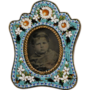Antique Miniature Picture Frame with Tin-type
