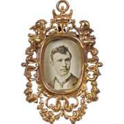 Ormolu Easel Frame with Picture