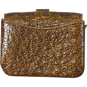Brown Leather Calling Card Case