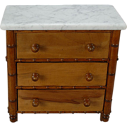 French Faux Bamboo Chest of Drawers
