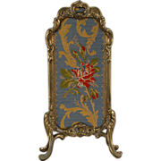 Metal and Tapestry Fire Screen