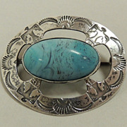 Sterling and Turquoise Pin