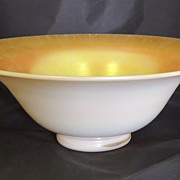 Iridescent Marigold Steuben Calcite Bowl