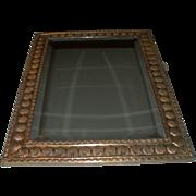 REDUCED Antique European Brass Beveled Mirror