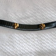 REDUCED Navy Blue Wave Belt