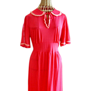 REDUCED Vintage Seamprafe Lounging Dress Circa 1940's