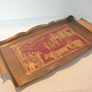 REDUCED Gorgeous Copper Tray by Michael d of California