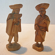 REDUCED Small Peruvian Carved Wooden Figurines