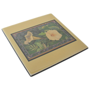 "REDUCED Larry K. Stephenson ""Moonflower"" Ceramic Tile"