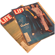 SALE Two Vintage Life Magazines Featuring The Beatles 1968