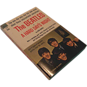 "SALE ""The Beatles in A Hard Day's Night""  Paperback Book,  circa 1964"