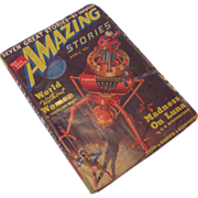 April 1939 Amazing Stories Magazine Vol 13 No. 4