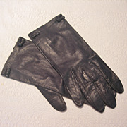 REDUCED Vintage Kidskin Leather Wrist Gloves