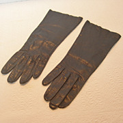 REDUCED Vintage B. Altman Grandoe Navy Blue Leather Gloves