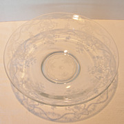 REDUCED Vintage Fostoria Etched Glass Bowl