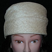 REDUCED Tall Pillbox Hat