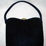 REDUCED Vintage Garay Navy Evening Handbag