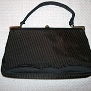 REDUCED Vintage Morris Moskowitz Satin Evening Handbag