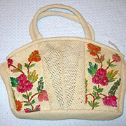 REDUCED Vintage Woven Handbag